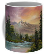 Mountain Sunset Coffee Mug by C Steele