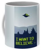 My I Want To Believe Minimal Poster Coffee Mug by Chungkong Art