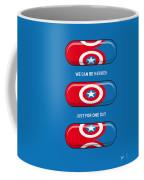 My Superhero Pills - Captain America Coffee Mug by Chungkong Art