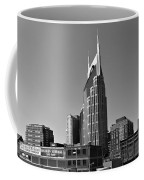 Nashville Tennessee Skyline Black And White Coffee Mug by Dan Sproul