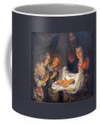 Nativity Scene Study Coffee Mug by Donna Tucker