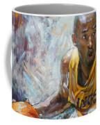 Nba Lakers Kobe Black Mamba Coffee Mug by Ylli Haruni