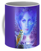 New Age Owl Girl Coffee Mug by Andrew Farley