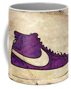 Nike Blazers Purple Coffee Mug by Alfie Borg