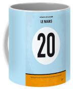 No038 My Le Mans Minimal Movie Poster Coffee Mug by Chungkong Art