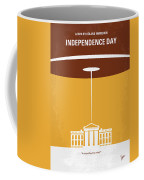 No249 My Independence Day Minimal Movie Poster Coffee Mug by Chungkong Art