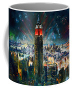 Nyc In Fourth Of July Independence Day Coffee Mug by Ylli Haruni