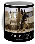 Obedience Inspirational Quote Coffee Mug by Stocktrek Images