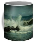 Ocean Impact - Jersey Shore Coffee Mug by Angie Tirado