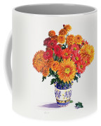 October Chrysanthemums Coffee Mug by Christopher Ryland