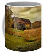 Old Barn In October Coffee Mug by Lois Bryan
