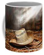 Old Farmer Hat And Rope Coffee Mug by Olivier Le Queinec