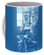 Old Fashioned Kitchen In Blue Coffee Mug by Kendall Kessler