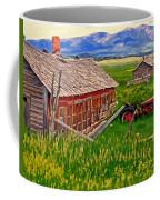 Old Homestead Near Townsend Montana Coffee Mug by Michael Pickett