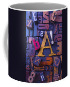 Old Typesetting Fonts Coffee Mug by Garry Gay