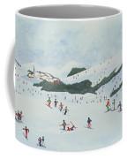 On The Slopes Coffee Mug by Judy Joel