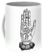 Palmistry Chart, 1885 Coffee Mug by Granger
