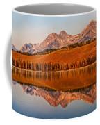 Panoramic Of Little Redfish Lake Coffee Mug by Robert Bales