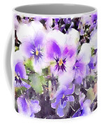 Pansies Watercolor Coffee Mug by John Edwards