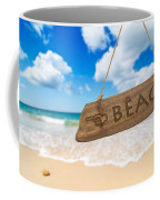 Paradise Beach Sign Algarve Portugal Coffee Mug by Amanda Elwell