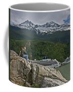Pause In Wonder At Cruise Ships In Alaska Coffee Mug by John Haldane