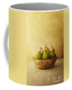 Pears In A Wooden Bowl Coffee Mug by Priska Wettstein
