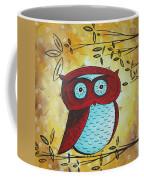 Peekaboo By Madart Coffee Mug by Megan Duncanson