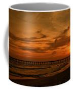 Pier At Sunset Coffee Mug by Sandy Keeton