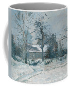 Piettes House At Montfoucault Coffee Mug by Camille Pissarro