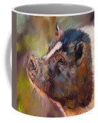 Pig Coffee Mug by David Stribbling