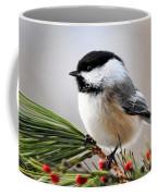 Pine Chickadee Coffee Mug by Christina Rollo
