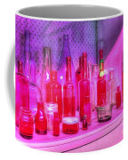 Pink And Red Bottles Coffee Mug by Kaye Menner