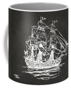 Pirate Ship Artwork - Gray Coffee Mug by Nikki Marie Smith