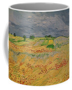 Plain At Auvers Coffee Mug by Vincent Van Gogh