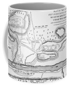 Plan Of The Battle Of Saratoga October 1777 Coffee Mug by American School