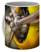 Plane - Pilot - Prop - Twin Wasp Coffee Mug by Mike Savad