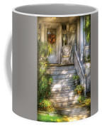 Porch - Westfield Nj - Grannies Porch  Coffee Mug by Mike Savad