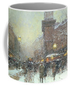 Porte St Martin In Paris Coffee Mug by Eugene Galien Laloue