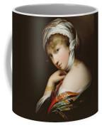 Portrait Of A Lady In Eastern Dress Coffee Mug by English School