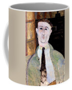 Portrait Of Paul Guillaume Coffee Mug by Amedeo Modigliani