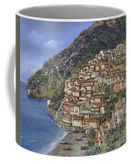 Positano E La Torre Clavel Coffee Mug by Guido Borelli