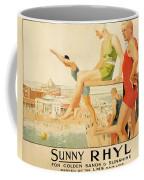 Poster Advertising Sunny Rhyl  Coffee Mug by Septimus Edwin Scott