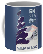 Poster Advertising The Canadian Ski Resort Jasper Coffee Mug by Canadian School