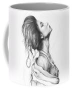 Pretty Lady Coffee Mug by Olga Shvartsur