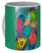 Psychedelic Colors Coffee Mug by Anastasiya Malakhova