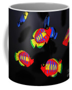 Psychedelic Flying Fish Coffee Mug by Kaye Menner