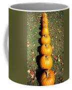 Pumpkins In A Row Coffee Mug by Anonymous