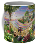 Puppies And Butterflies Coffee Mug by Adrian Chesterman