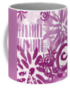 Purple Garden - Contemporary Abstract Watercolor Painting Coffee Mug by Linda Woods