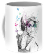 Queen Of Butterflies Coffee Mug by Olga Shvartsur